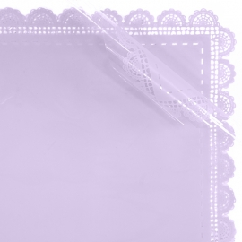 Пленка матовая в листах с кружевом S.HBLS 6 Лаванда