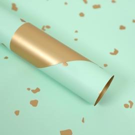 Пленка матовая в листах с золотыми вставками S.SJLJ Pastel Green