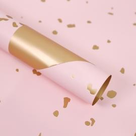 Пленка матовая в листах с золотыми вставками S.SJLJ Pink