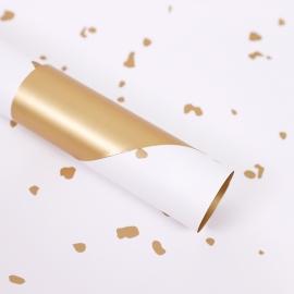 Пленка матовая в листах с золотыми вставками S.SJLJ White