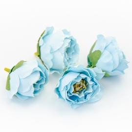 Головки цветов роза пионовидна голубая