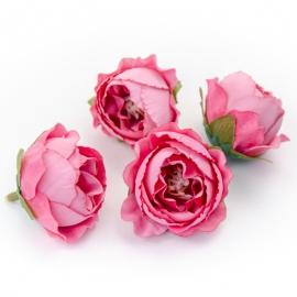 Головки цветов роза пионовидна малиновая