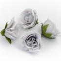 Eustoma gray flower heads