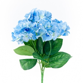 Bouquet of artificial hydrangea blue