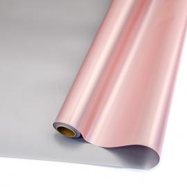 Пленка матовая в рулонах 60см х 8м S.JSZ-05 Pink + Grey