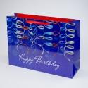 """Пакет паперовий """"Happy Birthday на синьому"""""""