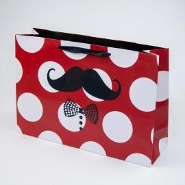 """Пакет паперовий """"Вуса на червоному"""""""