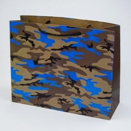 """Пакет паперовий """"Мілітарі блакитний"""""""
