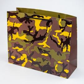 """Пакет паперовий """"Мілітарі жовтий"""""""
