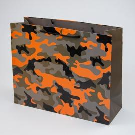 """Пакет паперовий """"Мілітарі помаранчевий"""""""