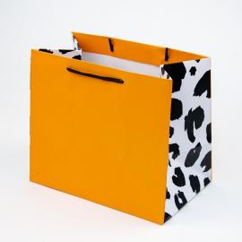 """Пакет паперовий """"Анімалістичний принт + помаранчевий"""""""