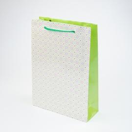 """Пакет папервий """"Зелений орнамент"""""""