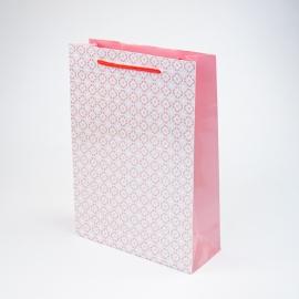 """Пакет папервий """"Рожевий орнамент"""""""
