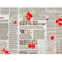 "Paper President ""Newspaper+Cherry"" in white 104"
