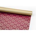 "Coated paper 70 cm x 10 yards bilateral ""Golden ornament on burgundy + Gold"""