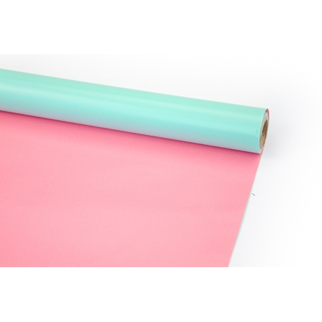 Coated paper 70cm x 10yards Turquoise + Pink