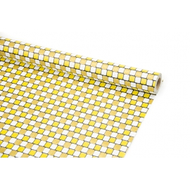 """Папір-Крафт 70см х 10ярд """"Квадрати жовтих відтінків"""""""