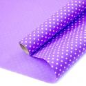"Kraft paper 70 cm x 8 m ""Peas"" on color (Lilac)"