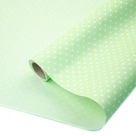 "Kraft paper 70 cm x 8 m ""Peas"" on color (Lime)"