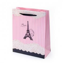 """Пакет паперовий """"Париж на рожевому"""""""