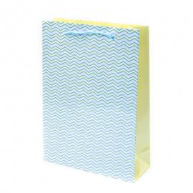 """Пакет паперовий """"Жовті хвилі на блакитному"""""""