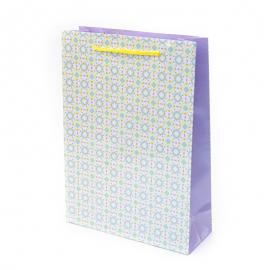 """Пакет паперовий """"Блакитні та жовті кружочки"""""""