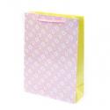 "Пакет паперовий ""Квіти на рожевому"""