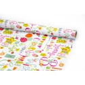 """Coated paper 70cm x 10yards """"Wishes party"""""""