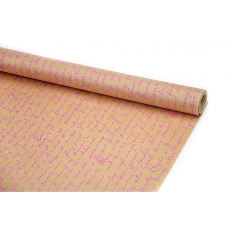"""Kraft paper 70cm x 8m """"Leaf"""" crimson"""