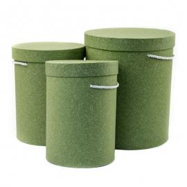 Набор тубусов крафтовых высоких с 3 шт 9120 оливковые