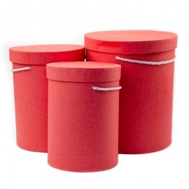 Набір тубусів крафтових високих з 3 шт 9120 червоні