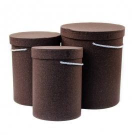 Набор тубусов крафтовых высоких с 3 шт 9120 шоколад