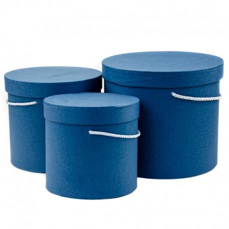 Тубусы крафт 3 шт. синие