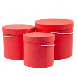 Набор тубусов крафтовых 3 шт 9918 красные