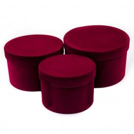 Тубуси оксамитові низькі 3 шт. рожеві