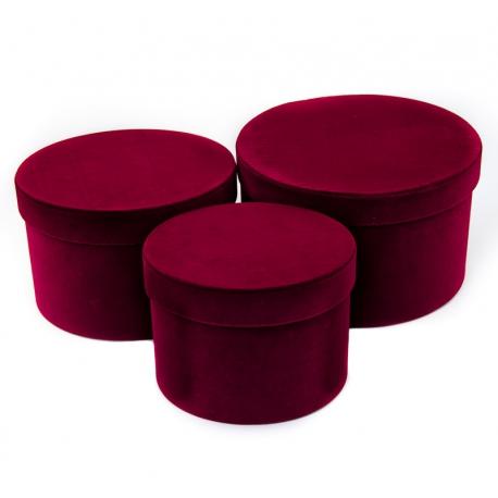 Тубуы бархатные широкие 3 шт. розовые