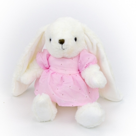 Polyester toy Rabbit Darcy 0220-6 in a pink dress