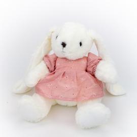 Іграшка поліестерна Кролик Дарсі 0220-6 в пудровій сукні
