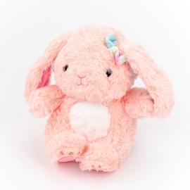 Іграшка поліестерна Кролик Лейсі 0220-5 Рожевий
