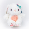 Toy polyester Rabbit Lacey 0220-5 White