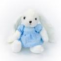 Іграшка поліестерна Кролик Дарсі 0220-6 в блакитній сукні