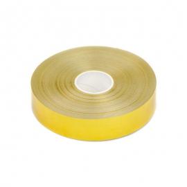 """Polypropylene tape """"Metal"""" 2 cm x 50 yards 71 gold"""