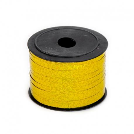 """Polypropylene tape """"Hologram"""" of 5 mm x 90 m 85 gold"""