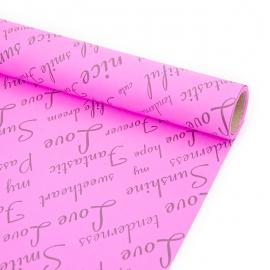 """Бумага 70см х 8м серия """"Fantastic"""" черным на розовом"""