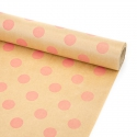 "Paper 70cm x 8m series ""Large peas"" on salmon craft"