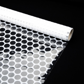 """Transparent film with a pattern of 70 cm x 8 m """"Honeycomb"""" White"""