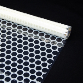 """Transparent film with a pattern of 70 cm x 8 m """"Honeycomb"""" Milk"""