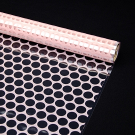 """Transparent film with a pattern of 70 cm x 8 m """"Honeycomb"""" Powder"""