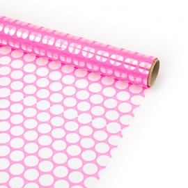 """Transparent film with a pattern of 70 cm x 8 m """"Honeycomb"""" Neon"""