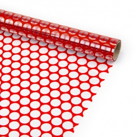 """Transparent film with a pattern of 70 cm x 8 m """"Honeycomb"""" Red"""
